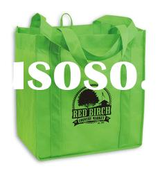 silk screen printing non woven shopping bags/grocery tote
