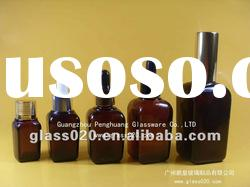 square amber essential oil packaging bottle with different cap