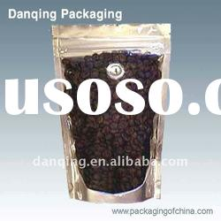 stand up zipper bag with valve for coffee,plastic packaging
