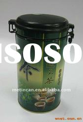 tea tin with airtight plastic lid with wire closing system