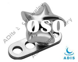 the newest design body piercing jewelry,316L stainless steel micro dermal anchor