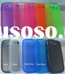 translucent and multi color for samsung galaxy s3 tpu case