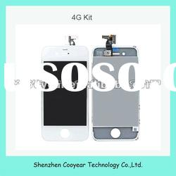 white mobile phone lcd touch screen for iphone 4g lcd paypal is accepted