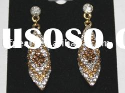 wholesale beautiful yellow diamond earrings
