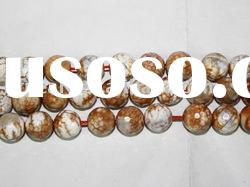 wholesale fashion white and brown gemstone strand