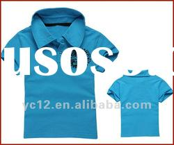 100% Cotton Short Sleeve Boys Polo T-shirt with Print