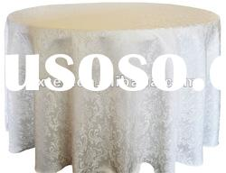 100%Polyester Baroque Jacquard Damask Table Cloth For Hotel/Banquet