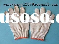 10 guage natural white cotton gloves