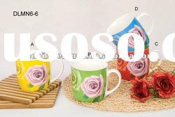 12oz ceramic mug with rose design