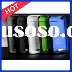 1900mAh New Black External Backup Battery Charger for Iphone4/4S