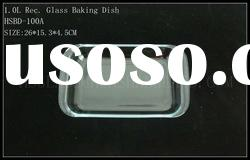 1.0L Rectangular borosilicate glass baking dish with side hand,Microwaved oven safe