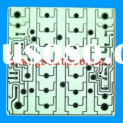 1.6mm double-sided transparent solder mask white fr4 material rigid pcb board