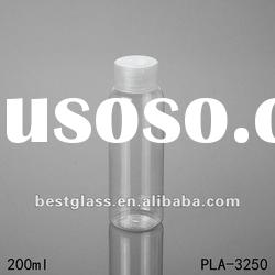 200ml PET bottle, empty shampoo bottles with a clear plastic cap, can printing, painted and OEM
