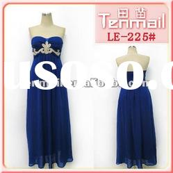 2012 Fashion elegant beaded crystal party dress/evening dress
