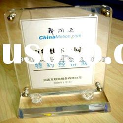 2012 New!! Clear Custom Acrylic Certificate Display Stand
