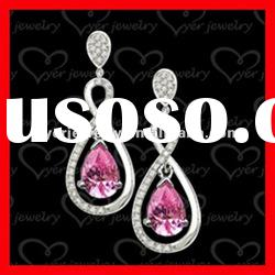 2012 fashion 925 sterling silver jewelry for ladies drop silver earrings