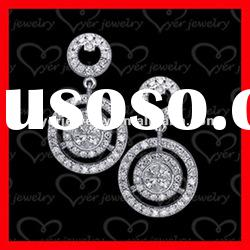 2012 fashion 925 sterling silver jewelry ladies flower silver earrings