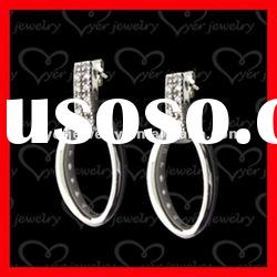 2012 fashion 925 sterling silver ladies drop silver earrings
