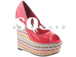 2012 fashion lady high heel fish mouth shoes