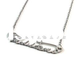 2012 fashion stainless steel alphabet pendant necklace popular with boys and girls