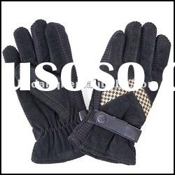 2012 top quality fashion men pig split leather gloves