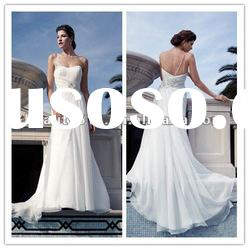 2013 new style chiffon sheath wedding dress with one-shoulder ZQW301