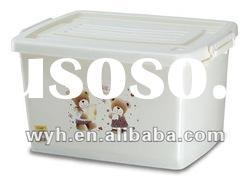 22L Plastic Storage Box with printing and wheels