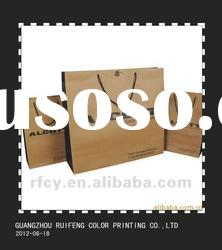 250gsm kraft paper bags with eyelet and rope and printing service