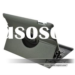 360 degree rotate stand for ipad case for ipad 2 rotation leather cases