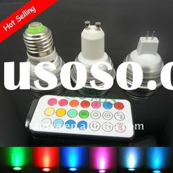 3W RGB LED SPOTLIGHT LAMP MR16/G10/E27 100% warranty factory sale
