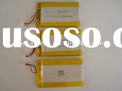 3.7v 1200mah lithium polymer rechargeable battery packs