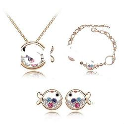 4561-4564 Animal Jewelry Sets /Crystal Necklace/Earring/Bracelet