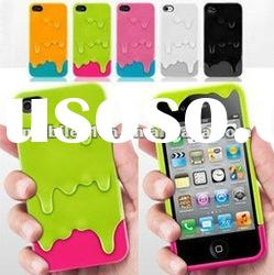 7 Colors Polymer 3D Melt Carbonate Melt ice-Cream Hard Case for iPhone 4 4GS 4S