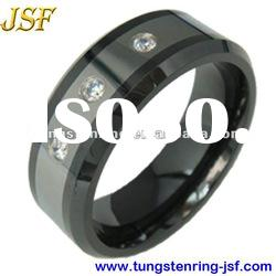 8mm fashion diamonds tungsten wedding rings