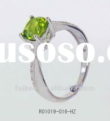 925 sterling silver rings with peridot