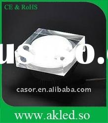 Acrylic LED Downlights 3W Lamp Bulbs,different color&shape