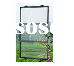 Aluminum 3 panel Vertical sliding/Lift sliding window screen