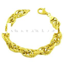 Amazing 18K gold plated fashion metal cable chain bracelet DH220594
