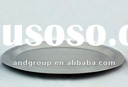 Antique stainless steel severing tray/stainless steel food tray plate/Round Stainless Steel Tray