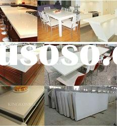 Aritifical marble dining table top, bar counter,kitchen tops with acrylic solid surface material