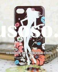 Beautiful plastic and jewelry case for iphone 4 case