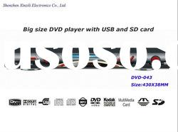 Big size DVD player with USB,SD card and MIC port