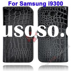 Black Crocodile Pattern Design Leather Cute Case For Samsung Galaxy S3 i9300