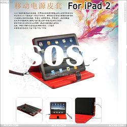 Black Leather Case with External Battery for ipad 2-- P-IPAD2POWCASE001