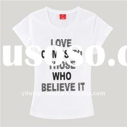 Blank white bulk cotton t-shirts