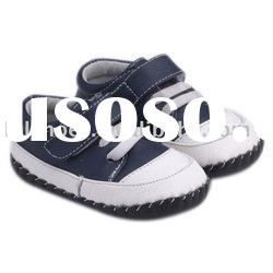 Boys leather Soft Sole Baby Shoes for Christmas Day LBL-BB27003-NV