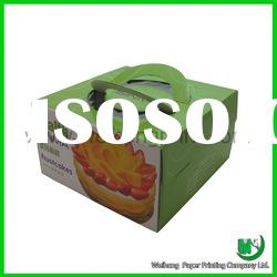 Cake packaging box with window