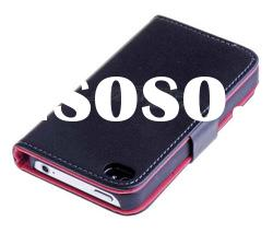 Card Wallet leather case for iPhone 4 4s New Arrival Hot sale