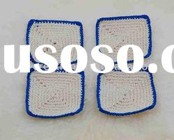 DD03018A Handmade Crochet Table Cup Coaster Mat