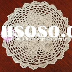 DD03041A Handmade Crochet Table Mat Pad Christmas products Sunflower 100% cotton